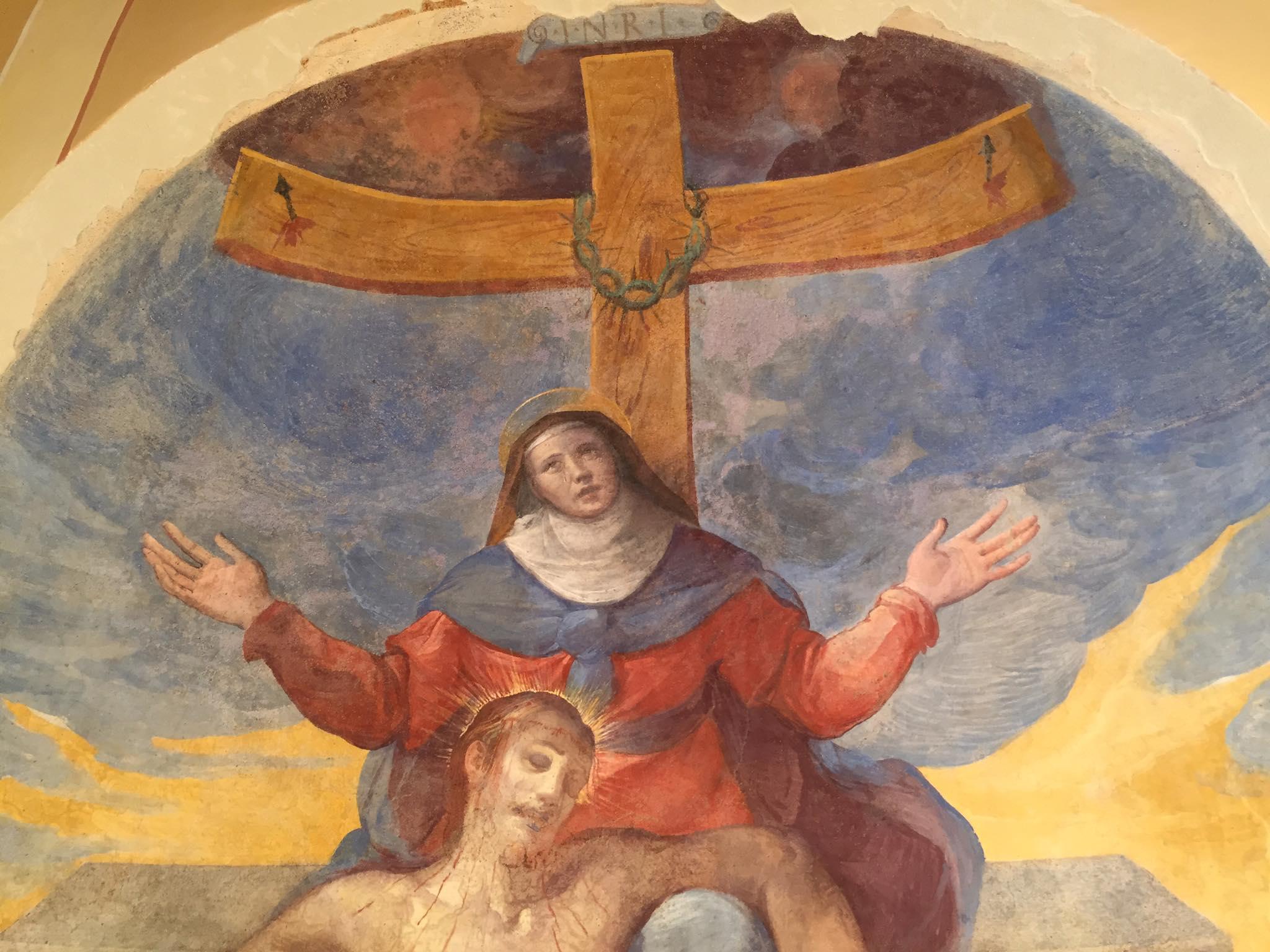 Restauro affresco Pietà della Chiesa di Pievelunga